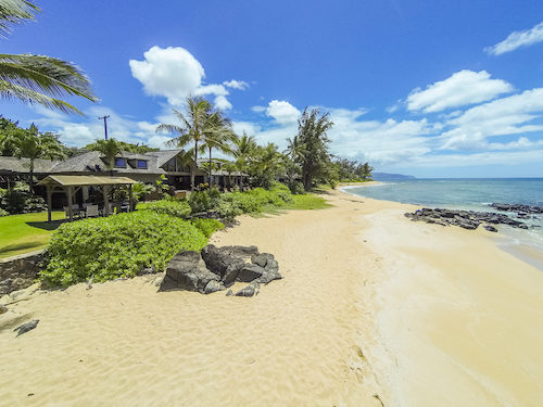 Oahu beachfront home