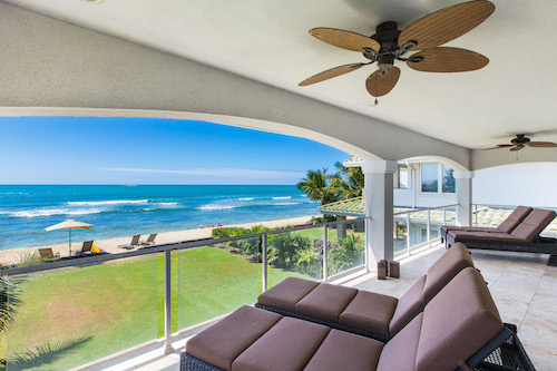 Oahu oceanfront house